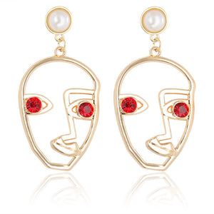 'Arie' Face Drop Earrings