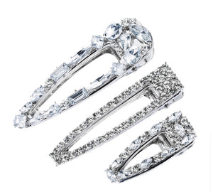 Diamond hair clips