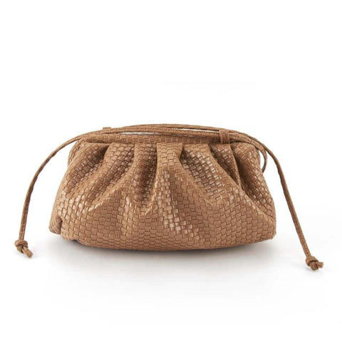 Brown woven 'Claudia'