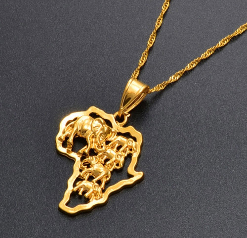 African Elephants necklace