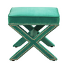 Lehigh Valley Furniture Store Chic Trendy Glam Velvet Ottoman Foot Stool