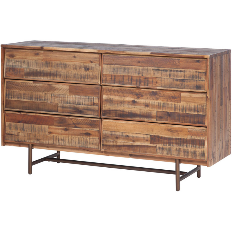 Boerum Hill Wooden 6 Drawer Dresser
