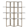 Lehigh Valley Furniture Store Chic Trendy Bookcase Concrete Brass Room Divider