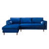 Colson Navy Velvet Sectional