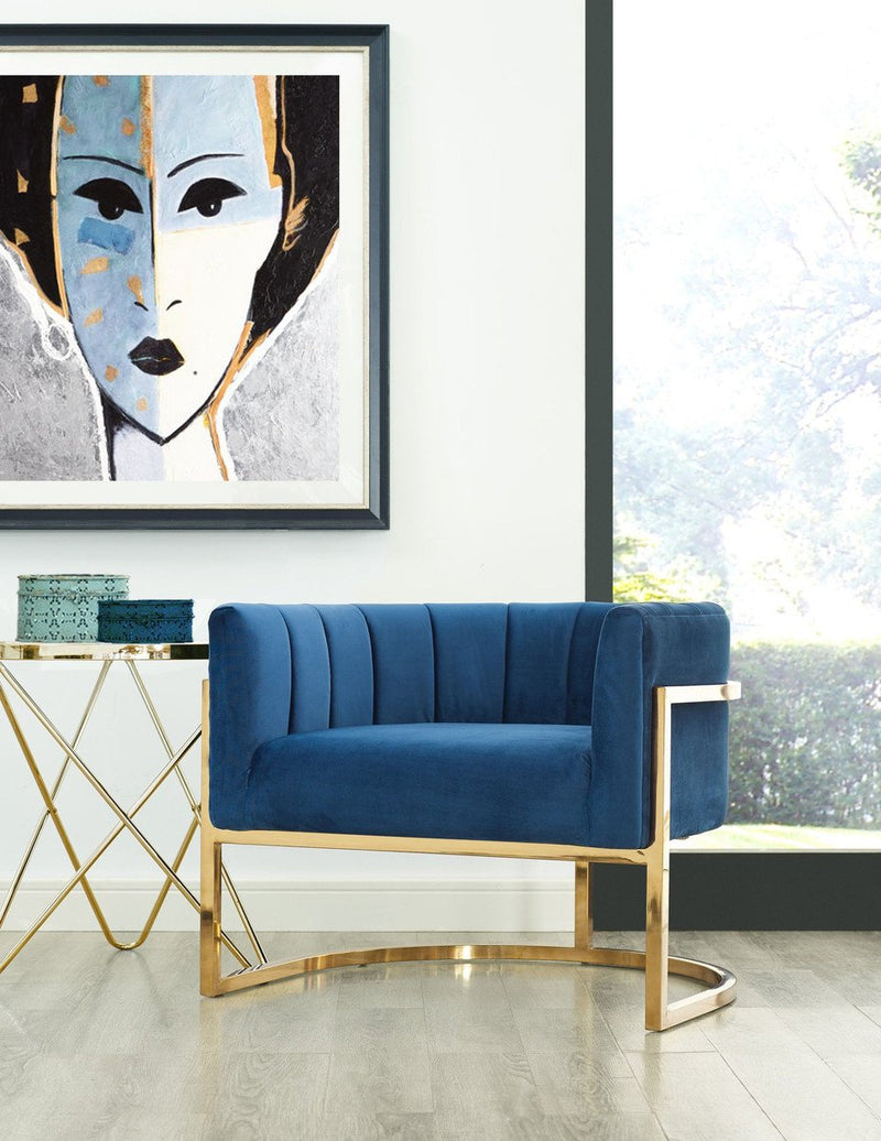 Joana Wing Chair with Gold Base