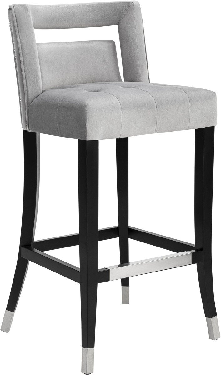 Heart Velvet Counter Stool