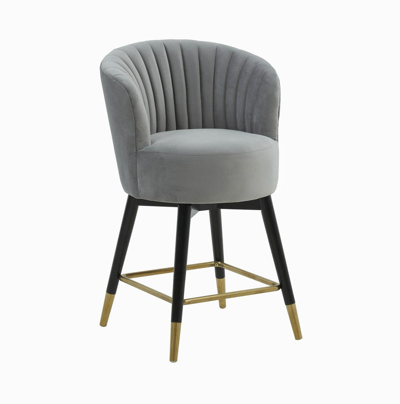 Linda Velvet Swivel Stool