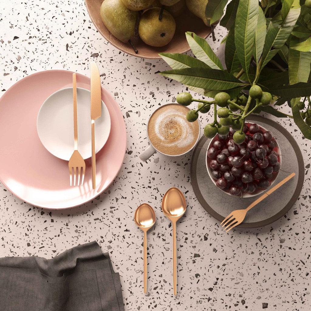 Stainless Steel Rose Gold Mirrored Cutlery Set
