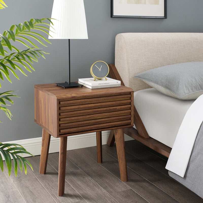 Marconi End Table Nightstand in Walnut