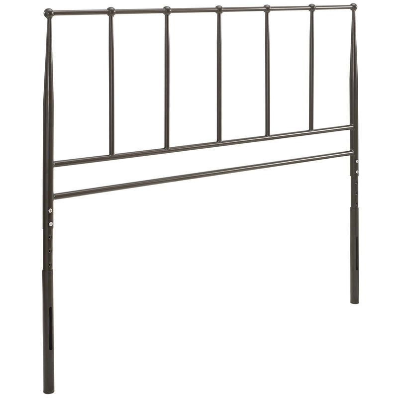 Kane Metal Headboard Brown