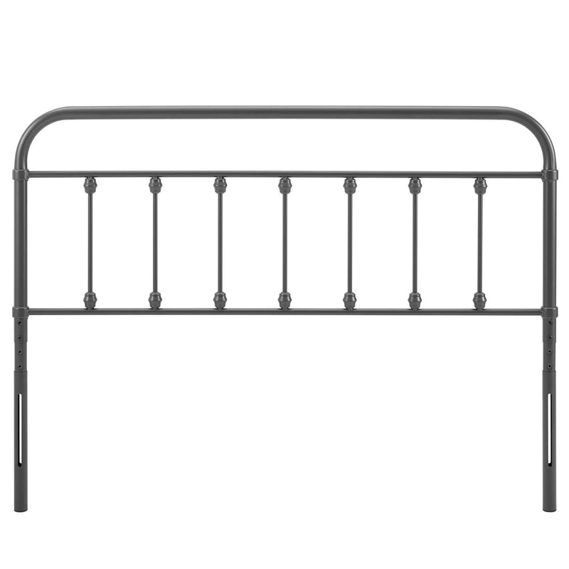 Oakland Metal Headboard Gray