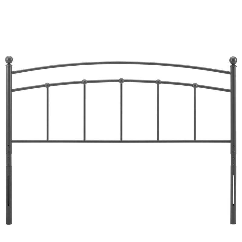 Phoenicia Metal Headboard Gray