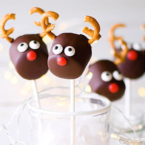 Rudolph's Peppermint Marshmallow Pops