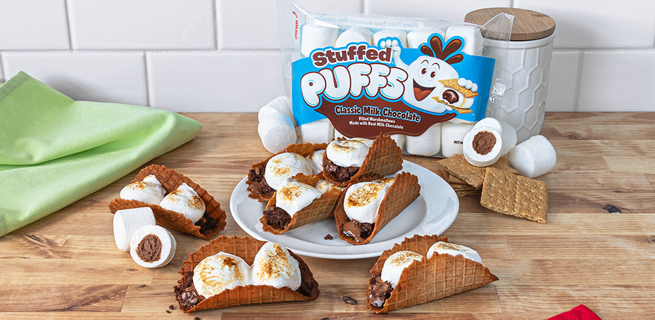 Stuffed Puffs® S'mores Tacos