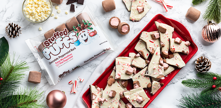 Stuffed Puffs® Chocolate Peppermint Bark