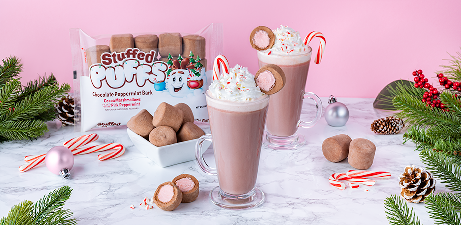 Stuffed Puffs® Pink Peppermint Hot Cocoa
