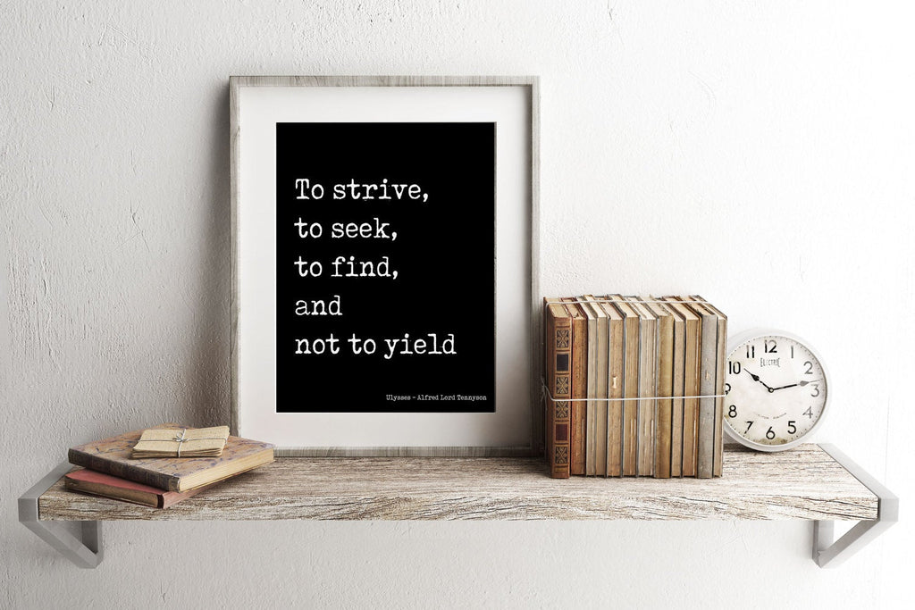 Ulysses Alfred Lord Tennyson - BookQuoteDecor