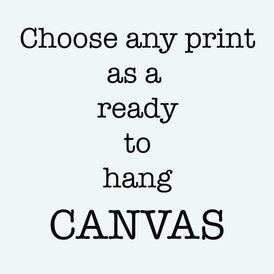 Any print as a ready to hang canvas, 16x20, 18x24, 24x36 - BookQuoteDecor