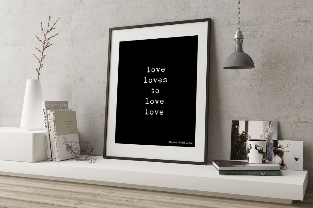 James Joyce Love Loves to Love - BookQuoteDecor