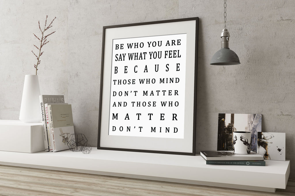 Be Who You Are Art Print - BookQuoteDecor