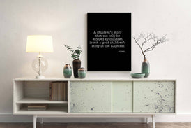 CS Lewis Quote Print, A Childrens Story - BookQuoteDecor