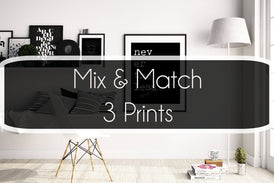 Set of 3 Prints - BookQuoteDecor