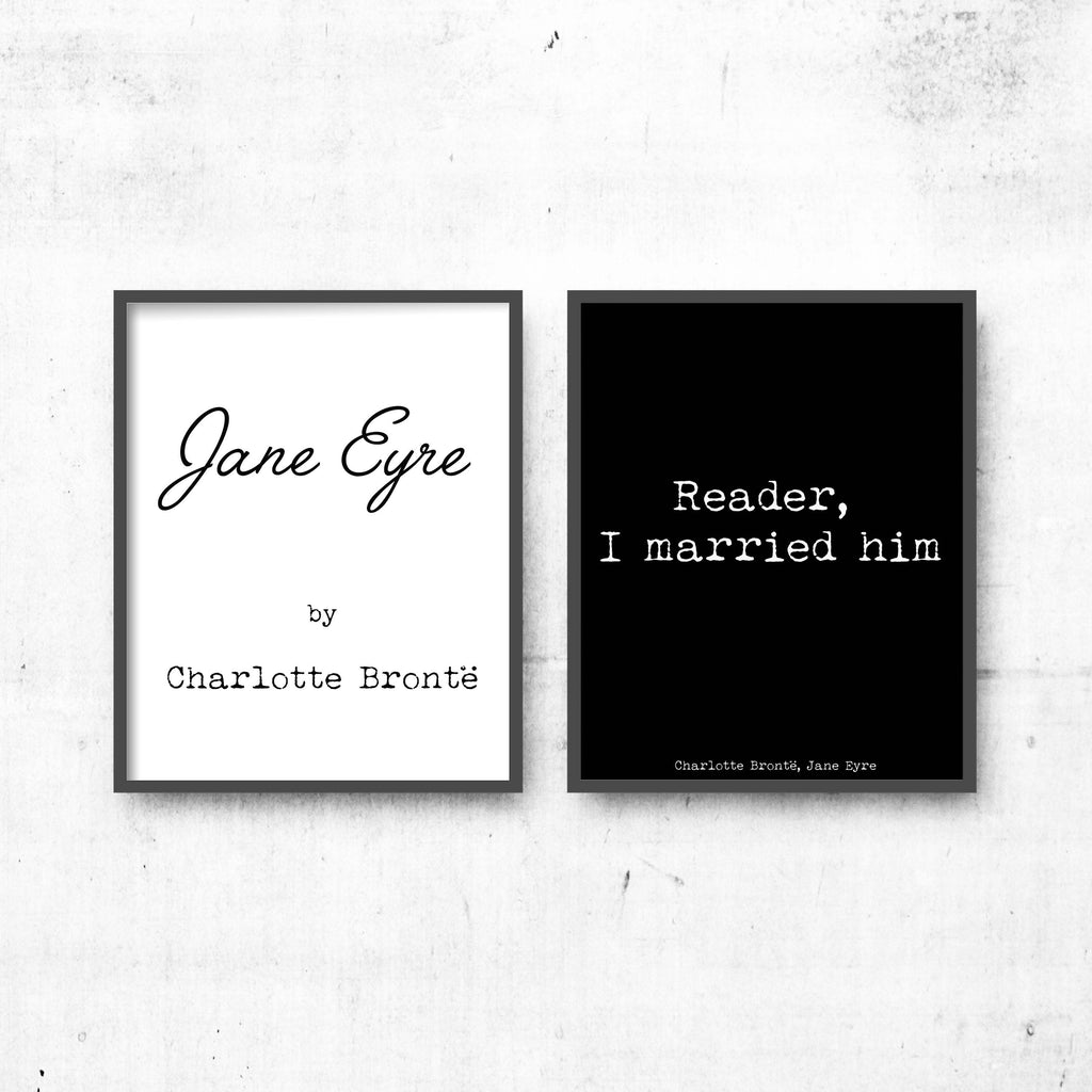 Jane Eyre Quote Prints - BookQuoteDecor