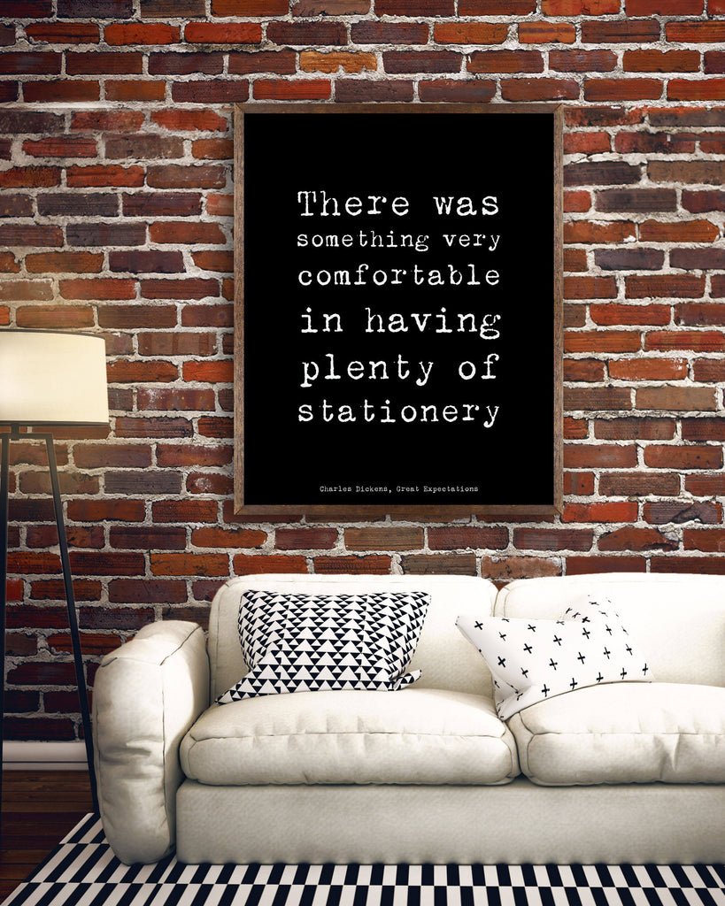 Dickens Quote Office Wall Art - BookQuoteDecor