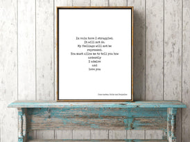 Jane Austen Female Empowerment Quote Printed On Book Page Framed Artwork