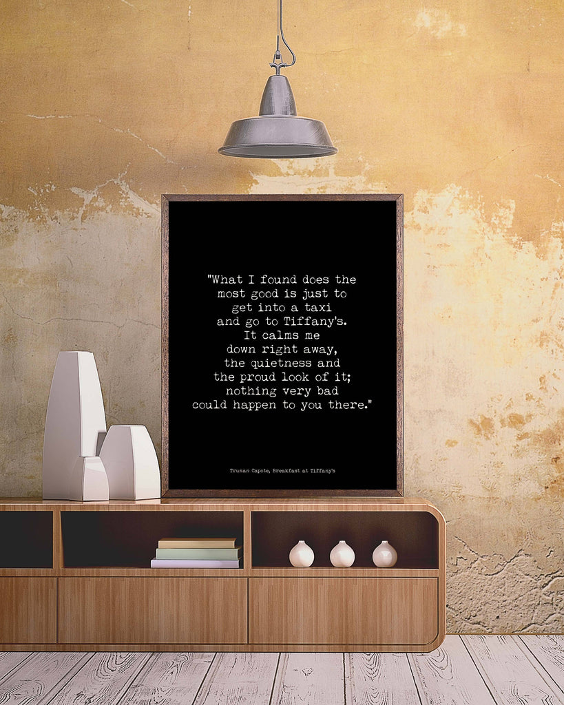 Breakfast at Tiffanys Quote Print - BookQuoteDecor