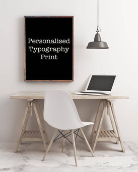 Custom Personalised Print - BookQuoteDecor