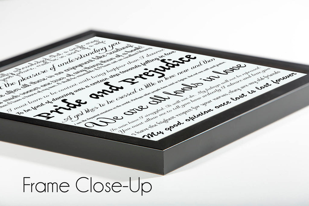 Custom Framed Book Quote Decor Print - BookQuoteDecor