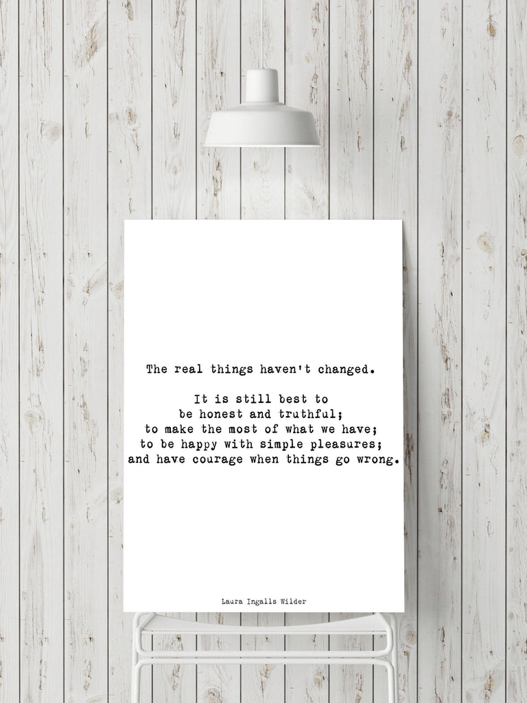 Laura Ingalls Wilder The Real Things Haven't Changed - BookQuoteDecor