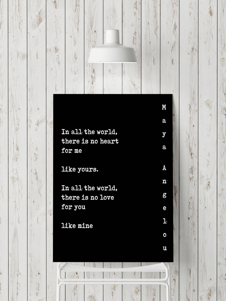 Maya Angelou Print - BookQuoteDecor