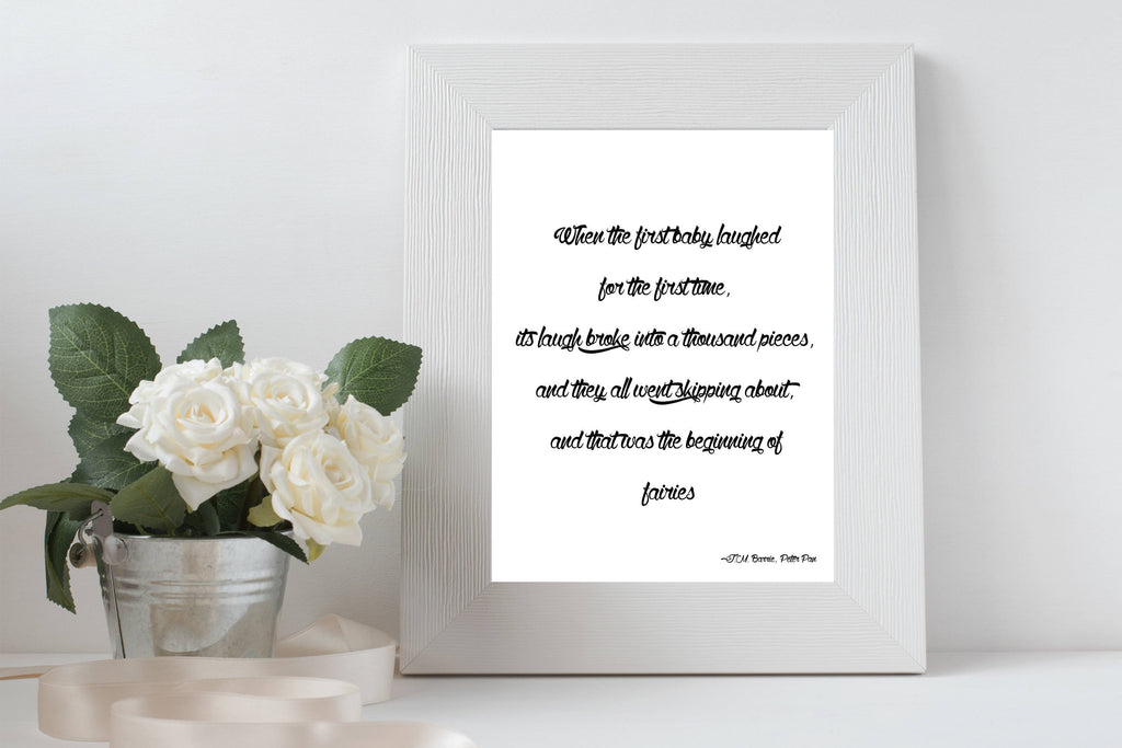 Fairy Quote Peter Pan Print - BookQuoteDecor