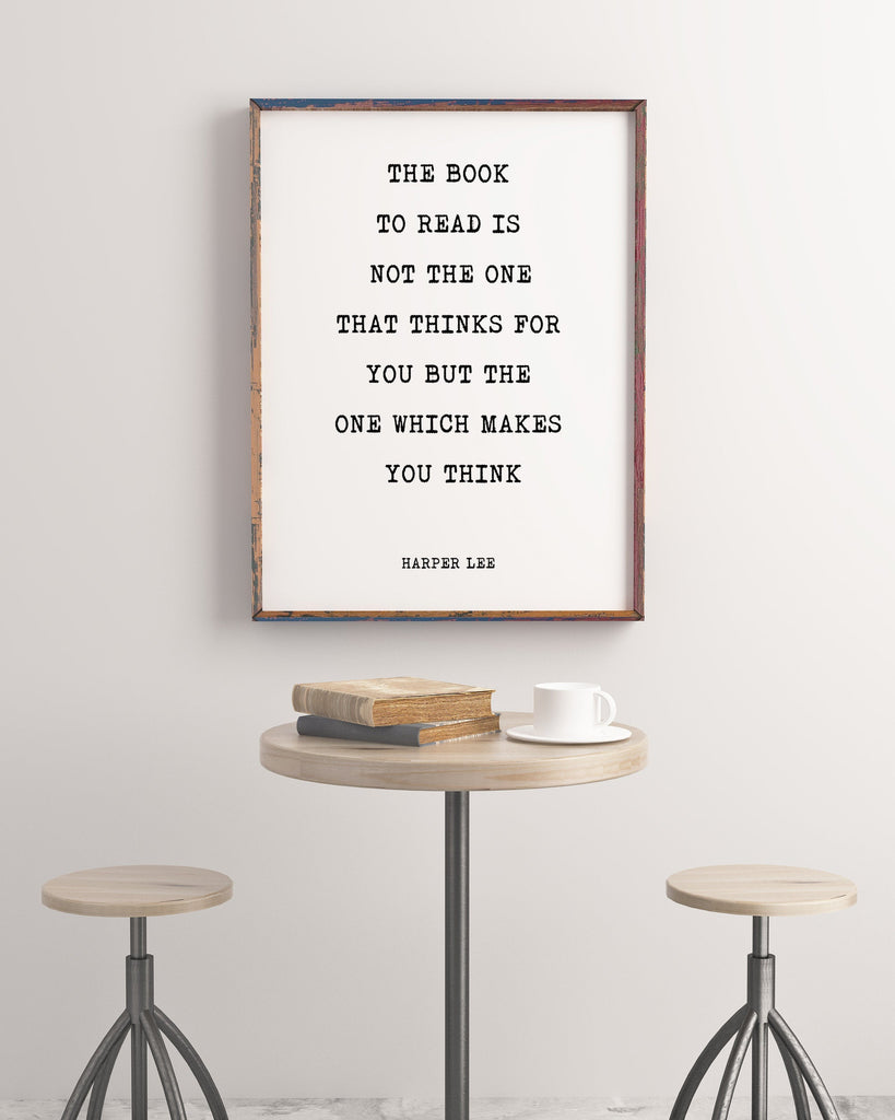 The Book to Read Harper Lee Inspirational Print, To Kill a Mockingbird , Inspiring book lover gift, Minimalist poster Unframed - BookQuoteDecor