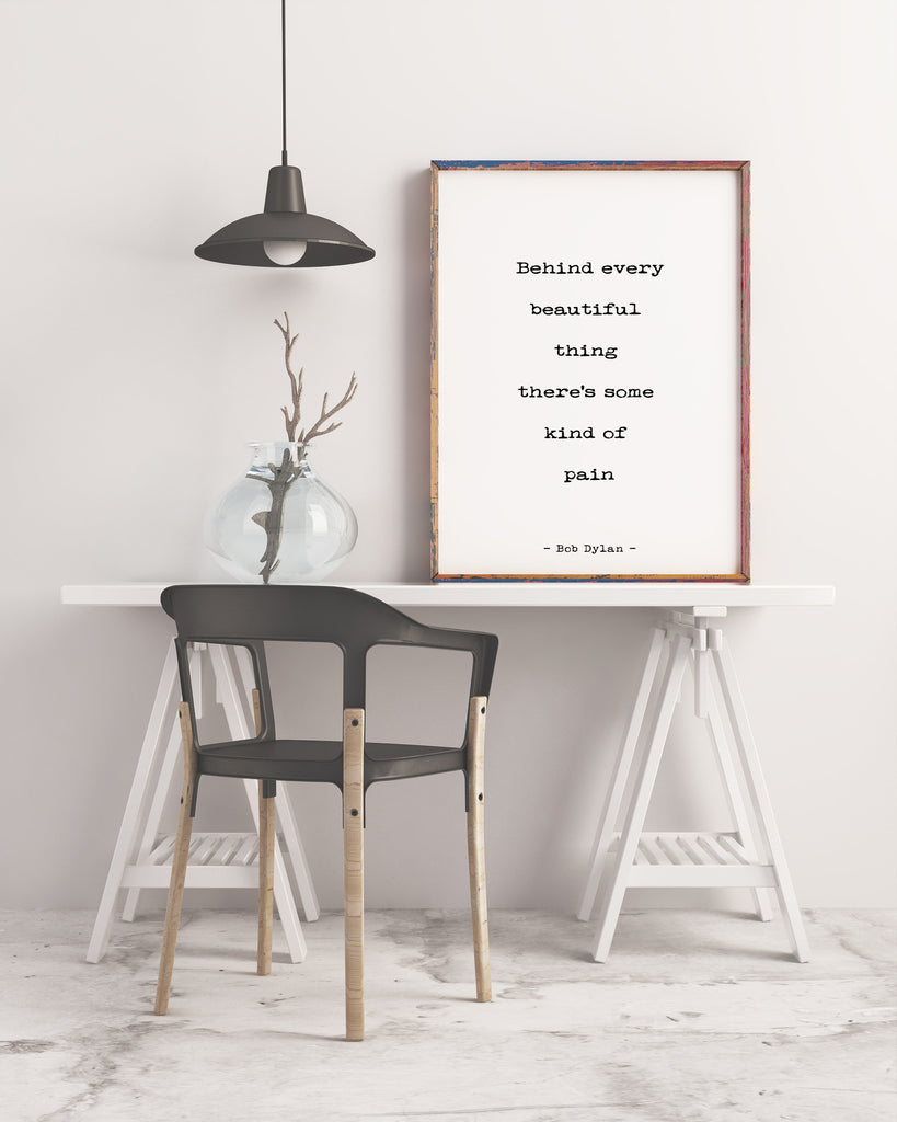 Bob Dylan Quote Art Print - BookQuoteDecor