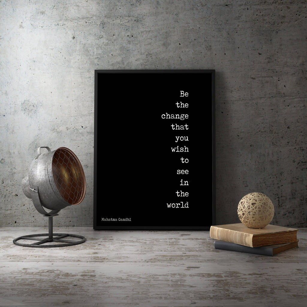 Gandhi Quote Print - BookQuoteDecor