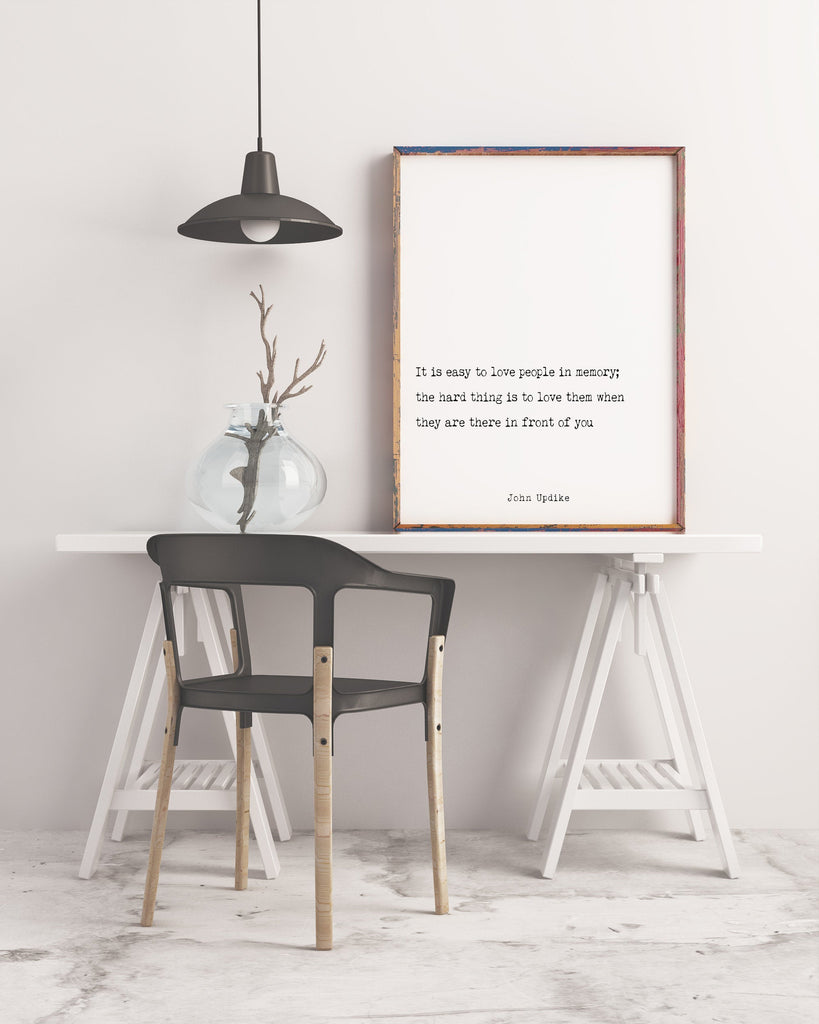 John Updike Quote Print - BookQuoteDecor