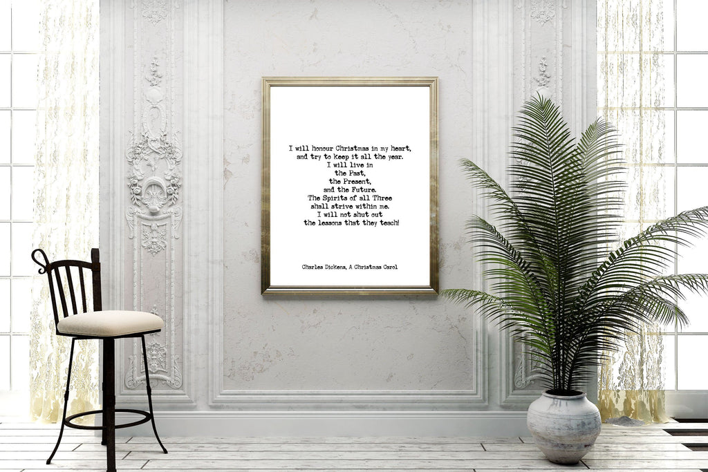 A Christmas Carol Quote Print - BookQuoteDecor