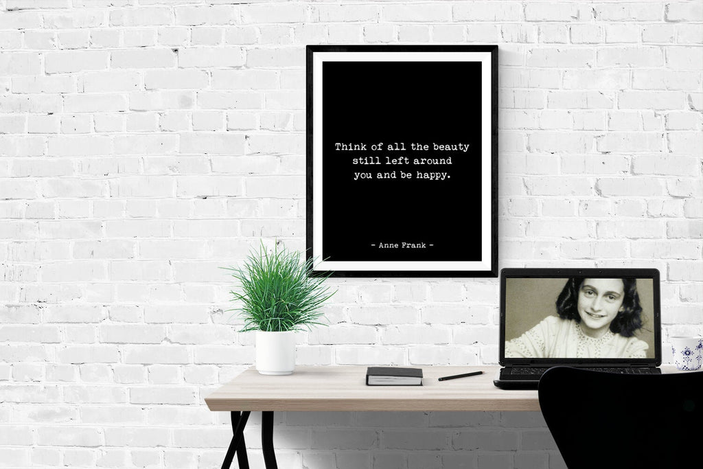 Anne Frank Quote Wall Art Print - BookQuoteDecor