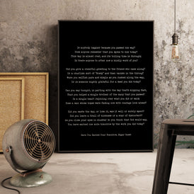 Edgar Guest Have You Earned Your Tomorrow Poetry Wall Art - BookQuoteDecor