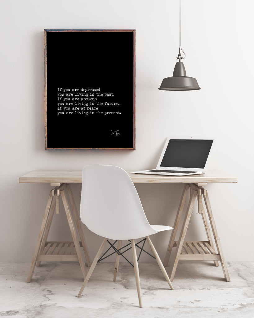 Lao Tzu Now Quote Art Print - BookQuoteDecor