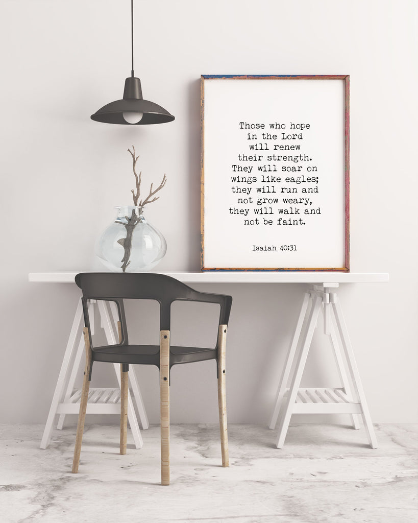 Isaiah 40:31 Hope in the LORD Print - BookQuoteDecor