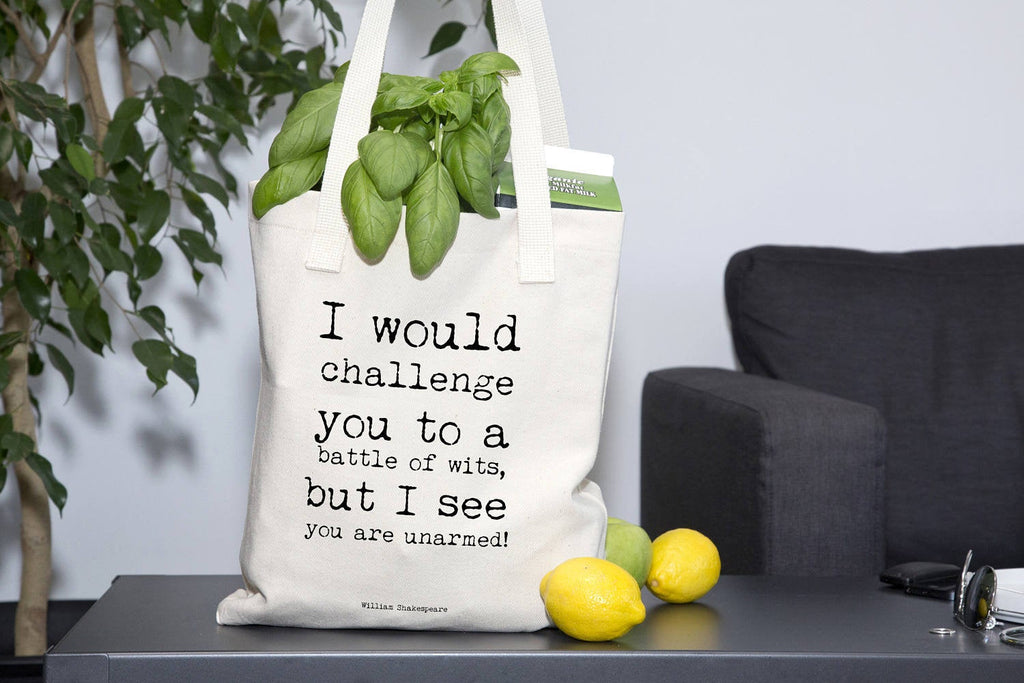 Shakespeare Quote Eco Friendly Tote Bag - BookQuoteDecor