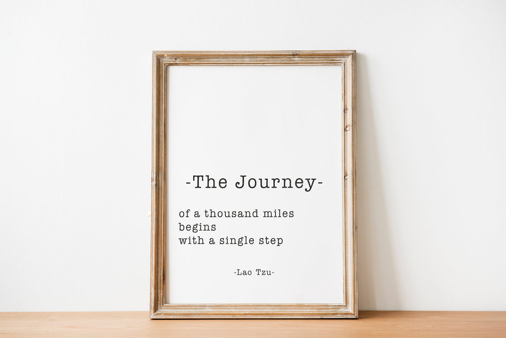 Lao Tzu The Journey Of A Thousand Miles Print - BookQuoteDecor