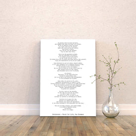 Max Ehrmann Desiderata Canvas Art Print - BookQuoteDecor