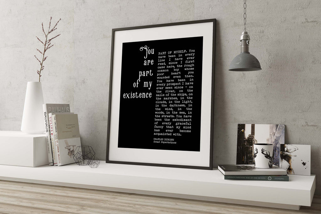 Great Expectations Print Charles Dickens - BookQuoteDecor