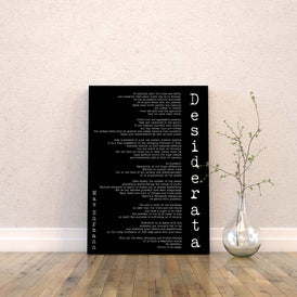 Desiderata Canvas Art Print - BookQuoteDecor