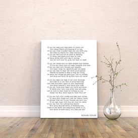 IF by Kipling Poem Canvas Art Print - BookQuoteDecor